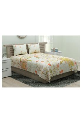 SPACES Utopia Printed King Bed Sheet With Pillow Cover - 204824789_9900