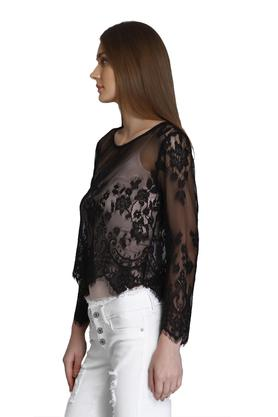 Womens Round Neck Lace Top