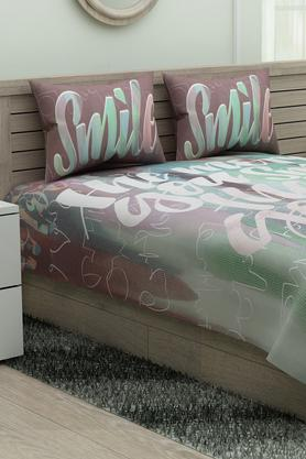 SPACES Printed Calliart Single Bedsheet With Pillow Cover