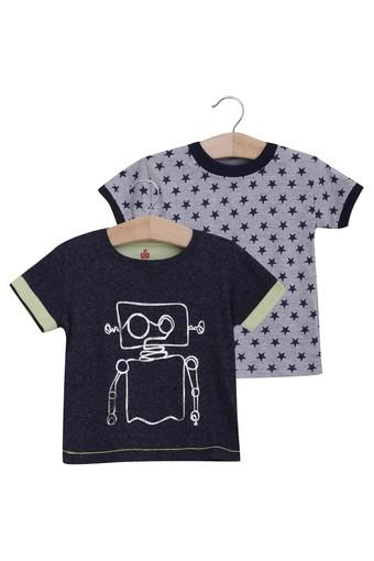 Kids Round Neck Printed Tee - Pack Of 2