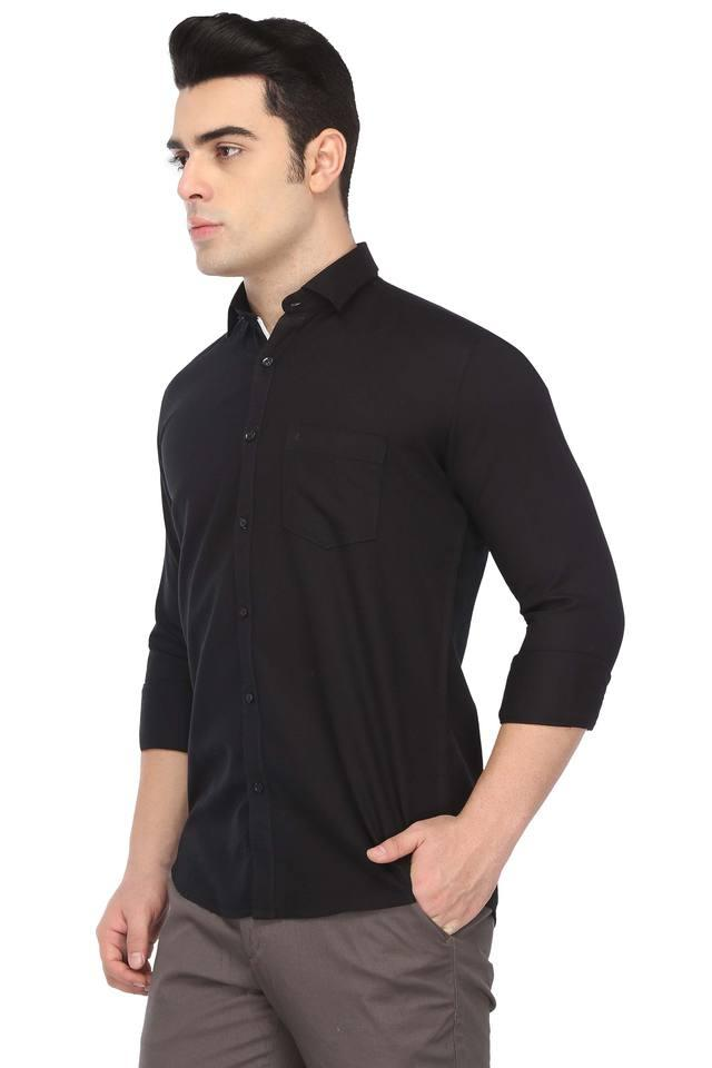 Mens Solid Casual Shirt