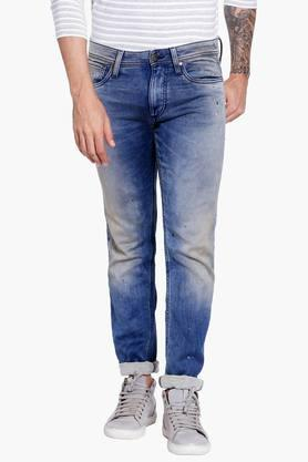 JACK AND JONES Mens 5 Pocket Slim Fit Dark Stone Wash Jeans
