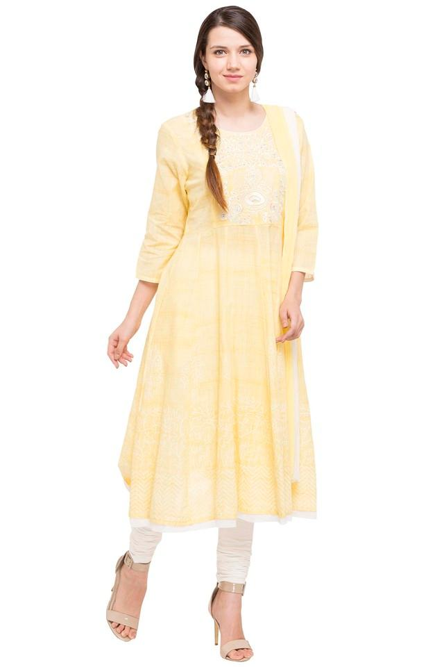 Womens Round Neck Embroidered Anarkali Suit