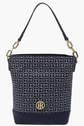 TOMMY HILFIGERWomens Casual Wear Zipper Closure Hobo Handbag