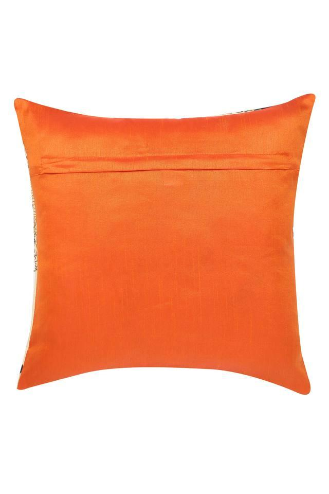 Square Printed Embroidered Cushion Cover