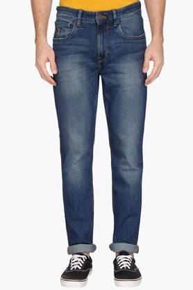 U.S. POLO ASSN. DENIMMens Slim Fit Heavy Wash Jeans (Delta Fit)