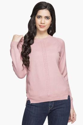 GIPSYWomens Round Neck Slub Sweater - 203397662