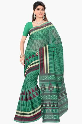 DEMARCA Womens Cotton Blend Printed Saree - 203229501
