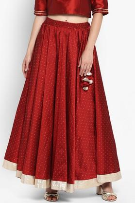 VARANGA Womens Embroidered Long Skirt