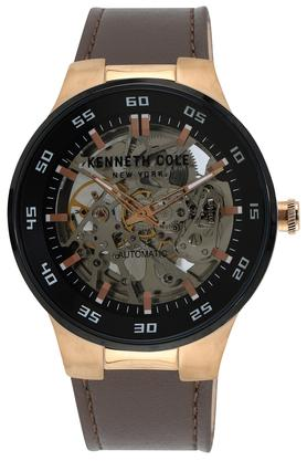 Mens Multi-Colour Dial Leather Automatic Watch - KC50710005MN