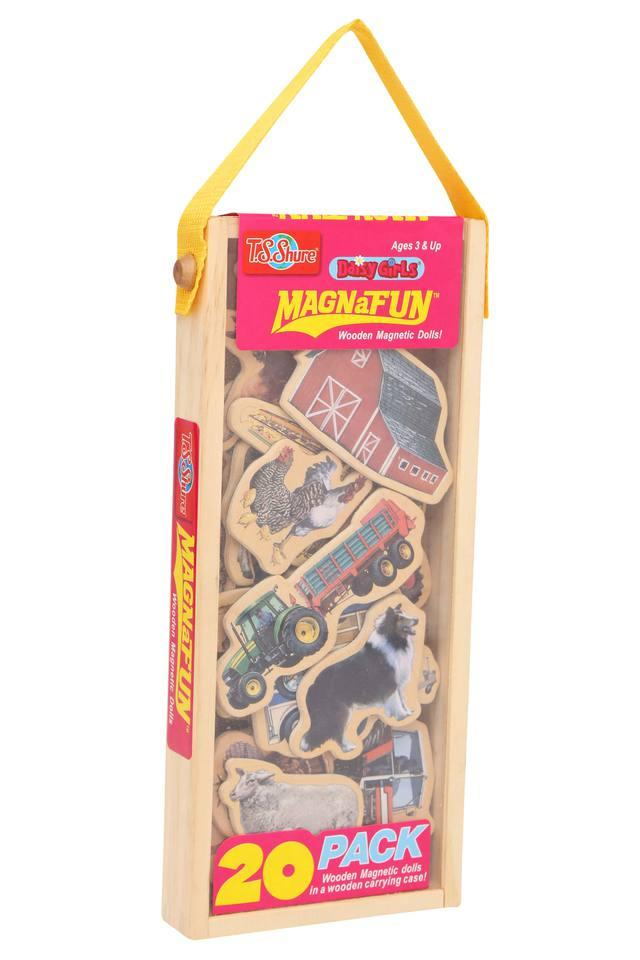 Unisex Farm Magnetic Wooden Set - Pack Of 20