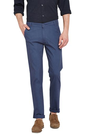Mens Slim Fit 5 Pocket Solid Chinos