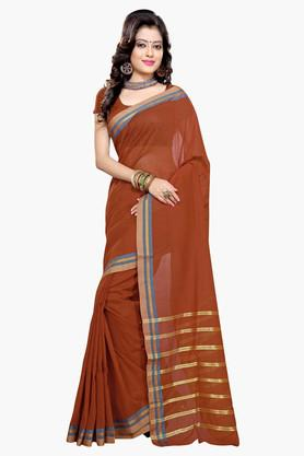DEMARCA Womens Cotton Blend Printed Saree - 203229325