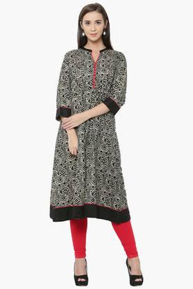 SHREE Womens Cotton Kurta And Legging Set