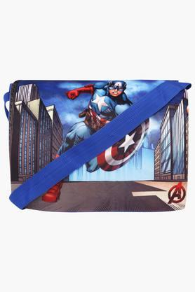 Unisex Zipper Closure Captain America Sling Bag