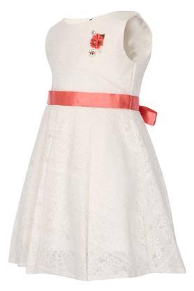 Girls Round Neck Lace Layered Dress