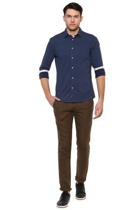 Mens Slim Fit Printed Casual Shirt