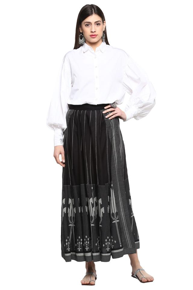 Womens Printed Casual Skirt