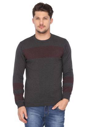 VAN HEUSEN SPORTMens Round Neck Slub Sweater