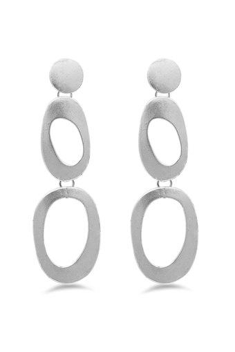 Womens Round Circle Drop Earrings