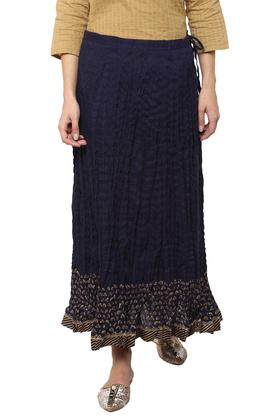 BIBA Womens Printed Flared Long Skirt
