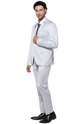Mens Slim Fit Notched Lapel Printed 2 Piece Suit