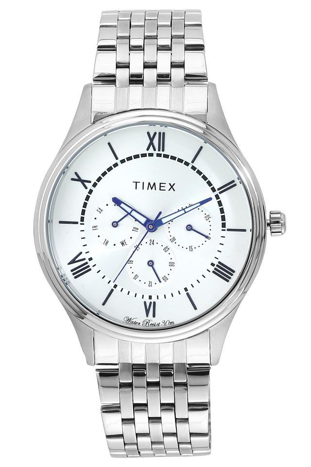 Mens White Dial Metallic Multi-Function Watch - TWEG16802
