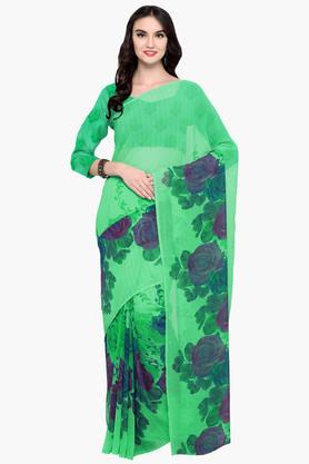 DEMARCA Womens Faux Georgette Printed Saree - 203229650