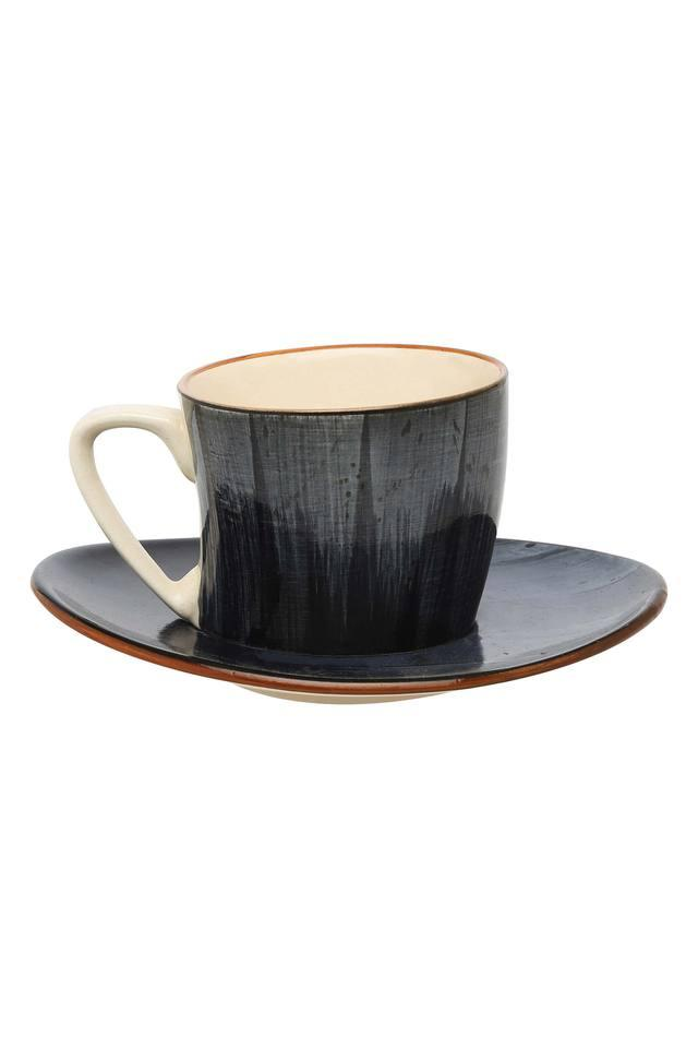 Round Brush Stroke Cup and Saucer Set
