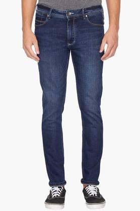 UNITED COLORS OF BENETTON Mens Skinny Fit Heavy Wash Jeans