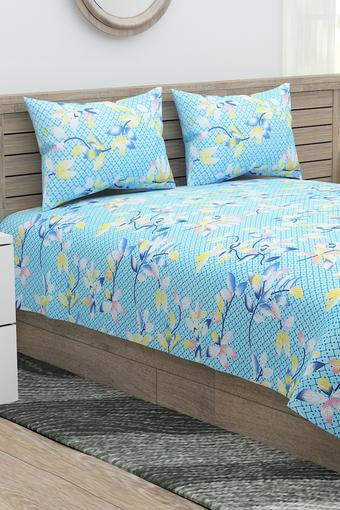 Printed Extra Large Bed Sheet with 2 Pillow Covers