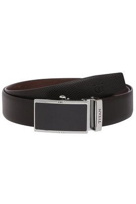 Mens Buckle Closure Formal Belt