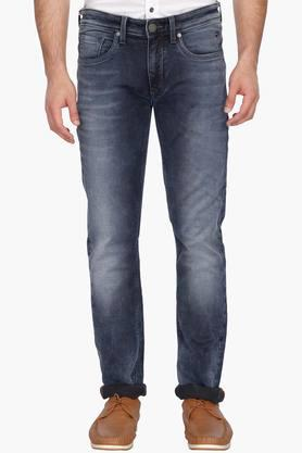 LOUIS PHILIPPE JEANS Mens Slim Fit Heavy Wash Jeans (Matt Fit)