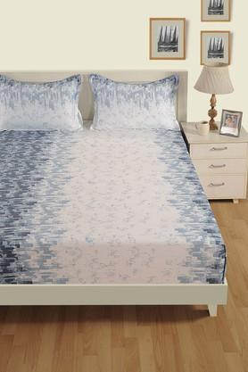 SWAYAM Printed Double Extra Large Bed Sheet With 2 Pillow Covers