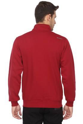 Mens High Neck Solid Sweatshirt