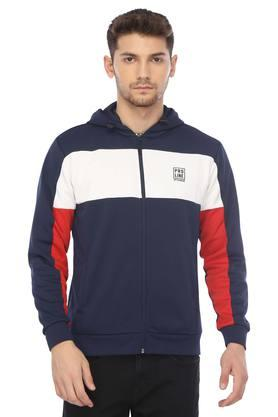 PROLINE Mens Hooded Neck Colour Block Sweatshirt
