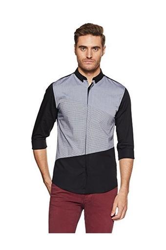Mens Slim Fit Colour Block Shirt