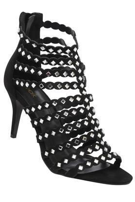 Womens Party Wear Zip Closure Heels