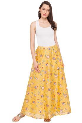 GLOBAL DESIWomens Printed Casual Skirt