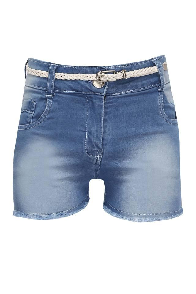 Girls 5 Pocket Mild Wash Shorts