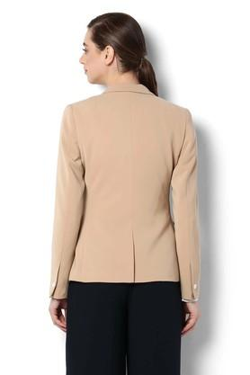 Womens Peaked Lapel Solid Blazer