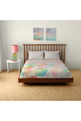 SPACESCotton Printed Double Bedsheet With 2 Pillow Covers - 203257420_9900