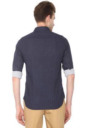 Mens Extra Slim Fit Printed Casual Shirt