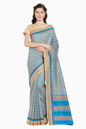 JASHN Womens Ethnic Motif Print Artsilk Saree - 203360616