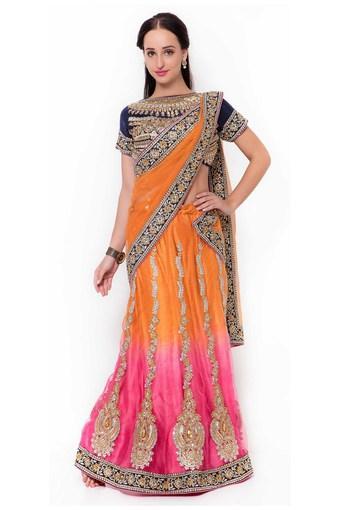 Womens Net Satin Designer Saree