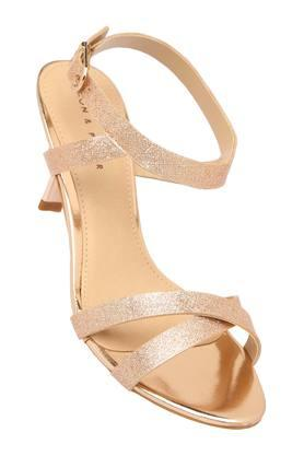 LEMON & PEPPERWomens Party Wear Buckle Closure Heeled Sandals