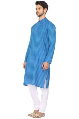 Mens Mandarin Collar Printed Kurta and Pyjama Set