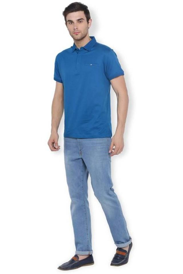 Mens Slim Fit Solid Polo T-Shirt