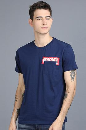 Mens Round Neck Marvel Printed T-Shirt