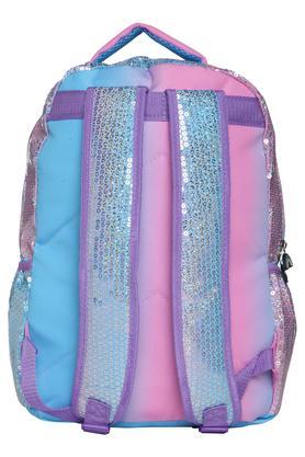 4415785854 X DISNEY Girls Sequined Pom Pom Zip Closure School Bag